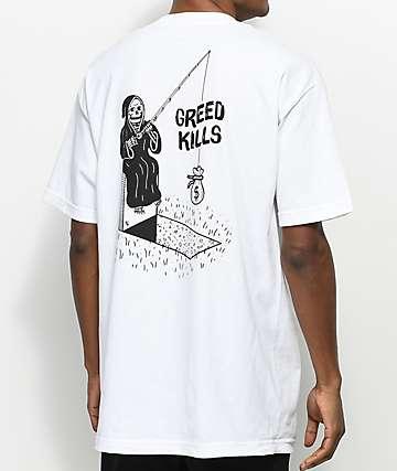 Sketchy Tank Cash White T-Shirt