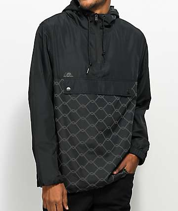 Sketchy Tank Chain Link Reflective Black Anorak Jacket