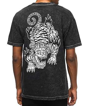 Sketchy Tank Crawl camiseta negra con lavado ácido