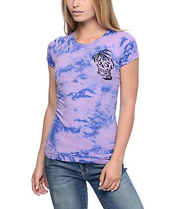 Sketchy Tank Dead Summer Purple Tie Dye T-Shirt