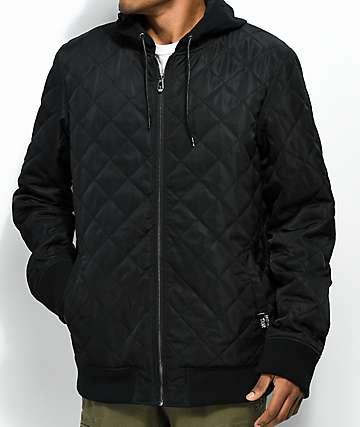 Sketchy Tank Dead Summer Quilted Black Varsity Jacket