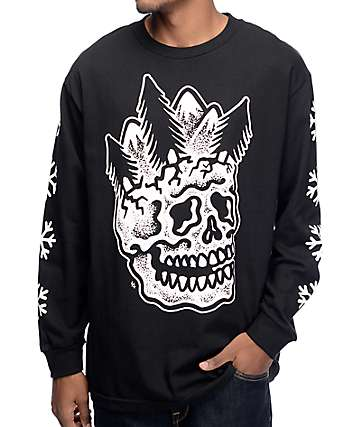 Sketchy Tank Dead Winter Black Long Sleeve T-Shirt