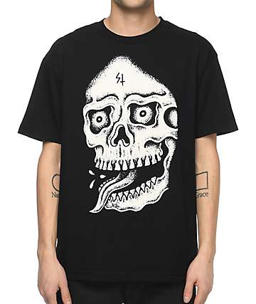 Sketchy Tank Death Black T-Shirt