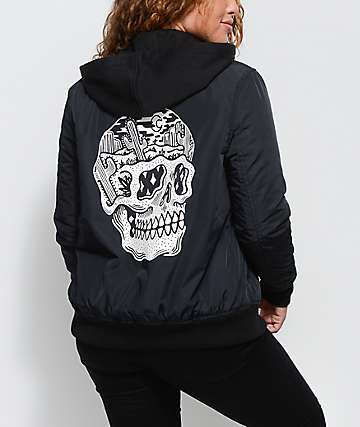 Sketchy Tank Desert Bomb Flight Black Bomber Jacket