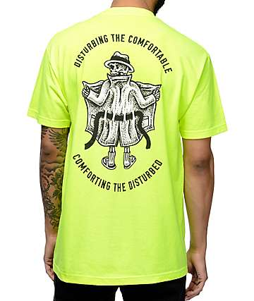 Sketchy Tank Disturb Neon Yellow T-Shirt