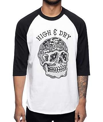 Sketchy Tank Dry White Baseball T-Shirt
