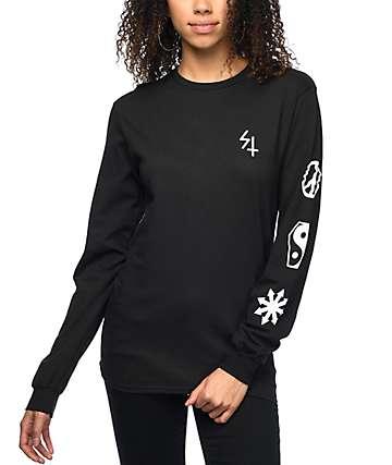 Sketchy Tank Elephant camiseta negra de manga larga