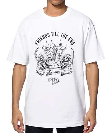 Sketchy Tank Friends Till The End T-Shirt
