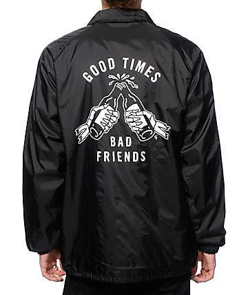 Sketchy Tank Good Times Coach Jacket