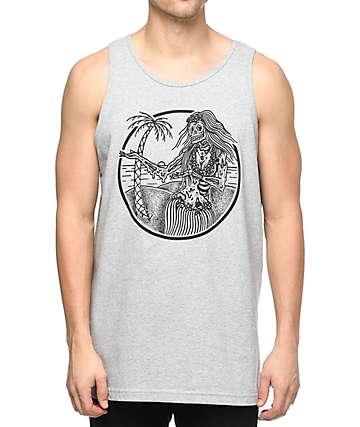 Sketchy Tank Hula camiseta gris sin mangas