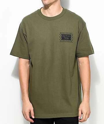 Sketchy Tank Kill camiseta en verde militar