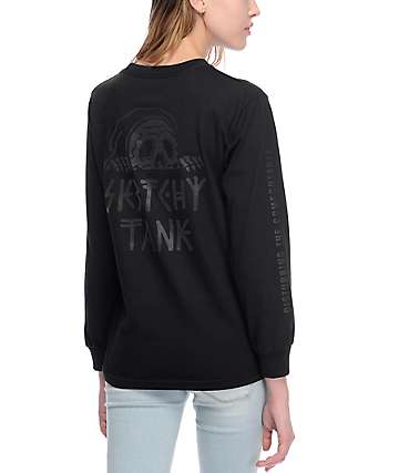 Sketchy Tank Lurk Black Long Sleeve T-Shirt