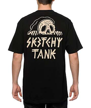 Sketchy Tank Lurk Black T-Shirt
