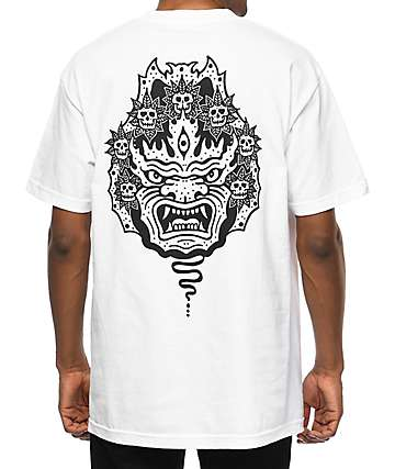 Sketchy Tank Mask White T-Shirt
