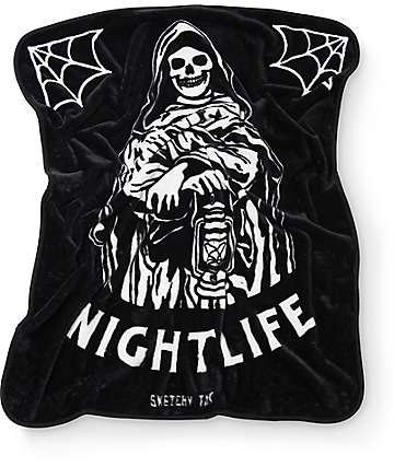 Sketchy Tank Nightlife Blanket
