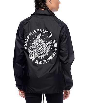 Sketchy Tank Opinions chaqueta entrenador en negro