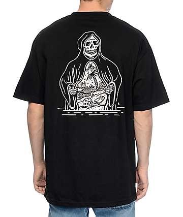 Sketchy Tank Paradise Black T-Shirt