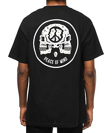 Sketchy Tank Peace Of Mind Black T-Shirt