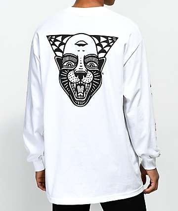Sketchy Tank Power White Long Sleeve T-Shirt