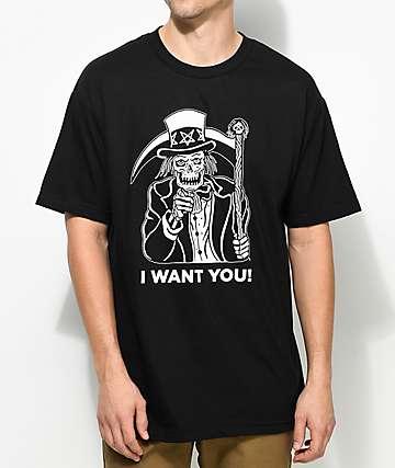 Sketchy Tank Sam camiseta negra