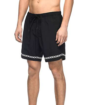 "Sketchy Tank Sly Link Black & White 16"" Boardshorts"