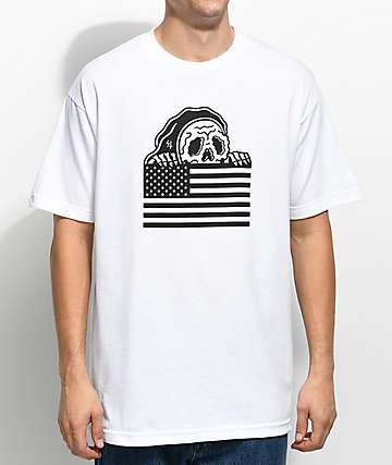 Sketchy Tank Stripes White T-Shirt
