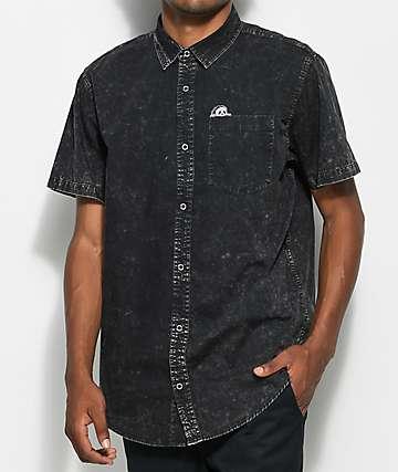 Sketchy Tank Sunday Driver Acid Wash Button Up Shirt
