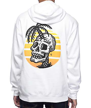 Sketchy Tank Sunset White Hoodie