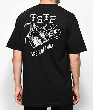 Sketchy Tank TGIF Black T-Shirt