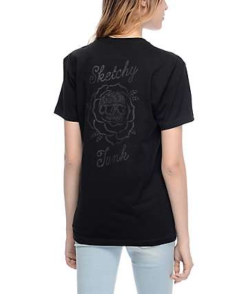 Sketchy Tank Thorn Black T-Shirt