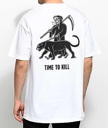 Sketchy Tank Time camiseta blanca