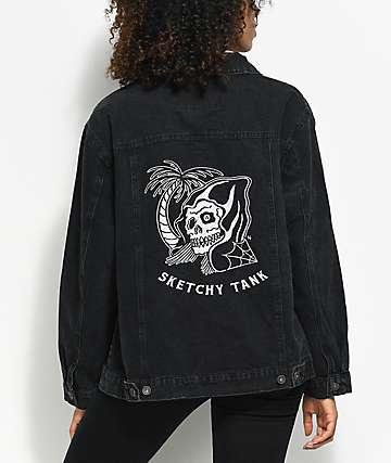 Sketchy Tank Trucker chaqueta de mezclilla negra