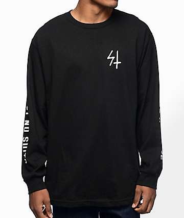 Sketchy Tank Trust camiseta negra de manga larga