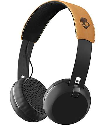 Skullcandy Grind Wireless Black, Black & Tan Headphones