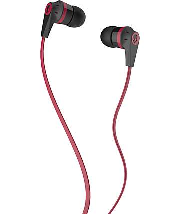 Skullcandy Ink'd 2.0 Black & Red Earbuds