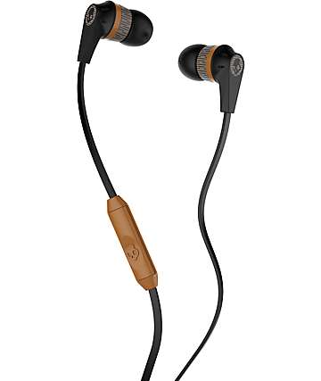 Skullcandy Ink'd 2.0 Mic'd Black, Tan & Black Headphones