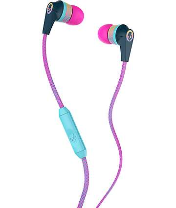 Skullcandy Ink'd 2.0 Mic'd Pink, Yellow & Navy Headphones