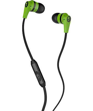 Skullcandy Inkd 2.0 Lime Green & Black Earbuds