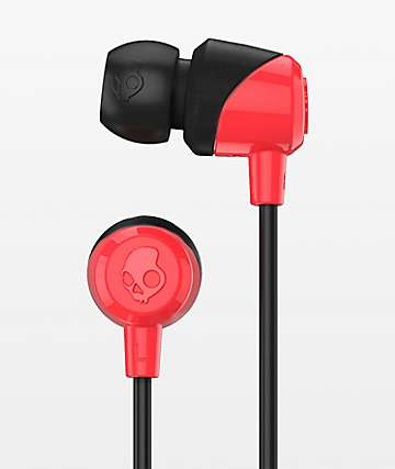 Skullcandy Jib Red & Black Earbuds