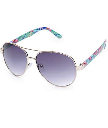 Slam Eden Floral Aviator Sunglasses