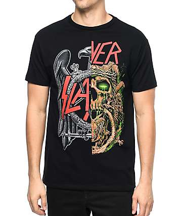 Slayer Split Black T-Shirt