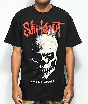 Slipknot The Gray Chapter Skull & Tribal Black T-Shirt