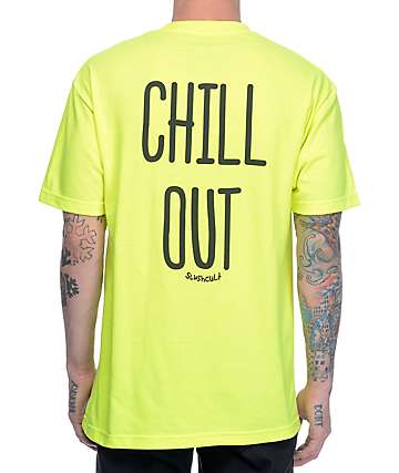 Slushcult Chill Out Neon Yellow T-Shirt