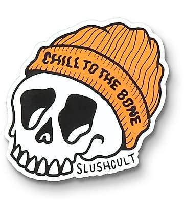 Slushcult Chill To The Bone pegatina