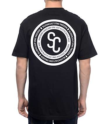 Slushcult Crest Black T-Shirt
