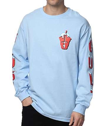 Slushcult Ice Box camiseta de manga larga en azul claro