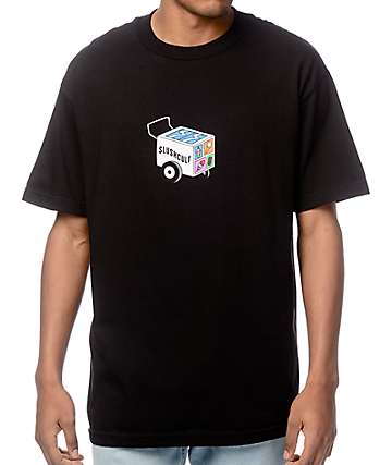 Slushcult Push Cart Black T-Shirt