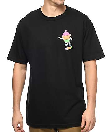 Slushcult Skater Cup Black T-Shirt