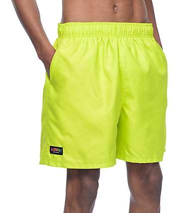 Slushcult Slater Neon Green Board Shorts