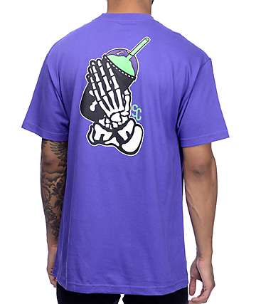Slushcult Slush God Bones Purple T-Shirt